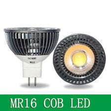 MR16 5W COB LED Spot Light Lamp Bulb Downlight Lighting White Light 8-24V
