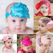Cheap Cool Kid Girl Infant Headband Bow Flower Headwear Hair Band Hairband Decor