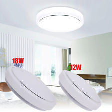 1/4x 12W 18W PIR Motion Sensor LED Flush Mount Ceiling Downlight Hallway White