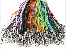 100 pcs 21color mixed Cell Phone Lanyard Cords Strap Lariat Mobile Lobster Clasp