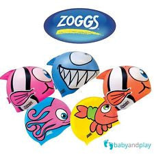 ZOGGS Character Silicone Swimming Cap - Swim Hat for Juniors up to 12 years