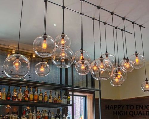 Ceiling Lamp Light Glass Pendant Lighting Bulb Home Bar