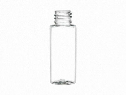 1 oz (30 ml) CLEAR Plastic Cylinder Round Bottles w/Caps