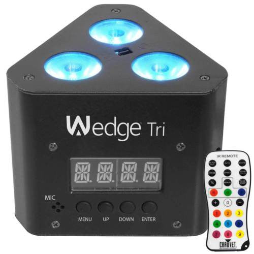 Chauvet DJ Wedge Tri LED RGB DMX Truss Uplight Wash Stage Light + Remote