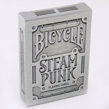 1 Deck Bicycle SteamPunk Silver Standard Poker Playing Cards