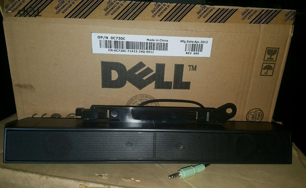 NEW GENUINE DELL AX510 SOUND BAR COMPUTER SPEAKERS 0C730C