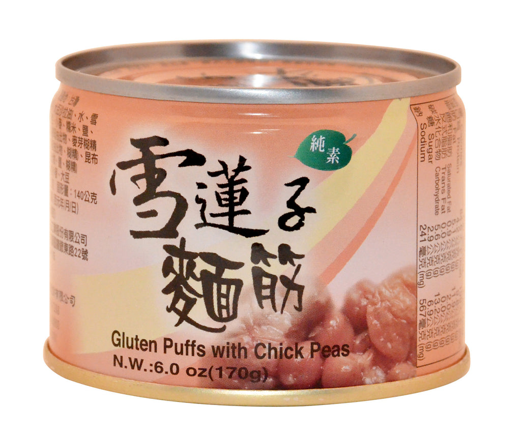 Gluten Puffs with Chick Peas