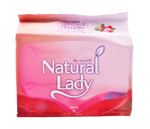 Natural Lady Overnight Sanitary Napkins