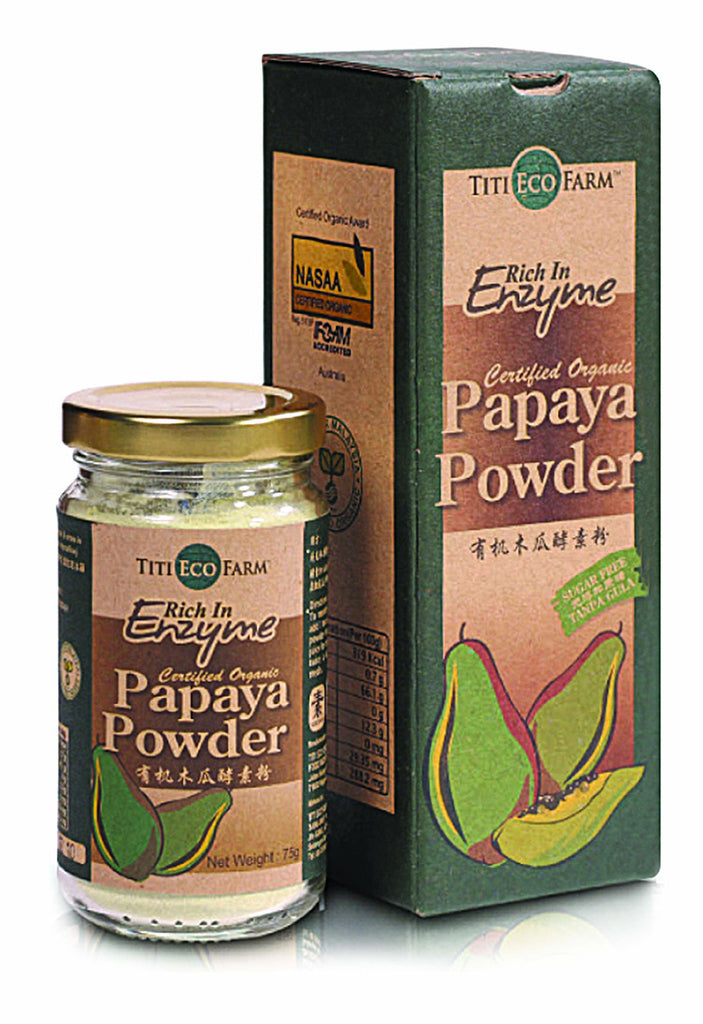 Organic Papaya Powder - Bottle
