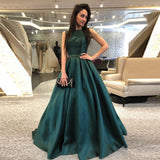 Gorgeous Teal A Line Prom Dress Long Backless Formal Gown For Graduation Party