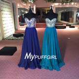 Gorgeous Beaded Sweetheart Prom Dress With Flowing Chiffon Skirt