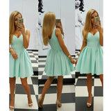 New Fashion Tiffany Homecoming Dress,Sleeveless Short Party Dress For Sweet16