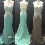 Fitted Tiffany Blue Sweetheart Prom Dress , Formal Gown Lace Bodice