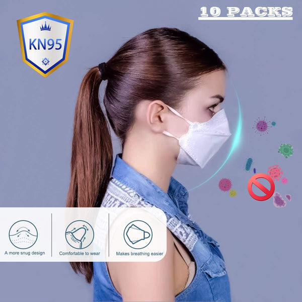 KN95 Respirator Mask 5-Layer Safety Mask for Blocking Dust Air Pollution With Filtration 3m Dust Mask