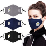 5 Packs Masks For Germ Protection PM2.5 Anti Dust Pollution Mask with Free 4 Pcs Activated Carbon Filter Insert