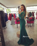 Gorgeous Off The Shoulder Mermaid Evening Gown , Prom Dress Long Sleeves
