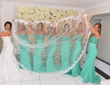 Mint Green Mermaid Bridesmaid Dress,Sweetheart Formal Gown With Lace Bodice