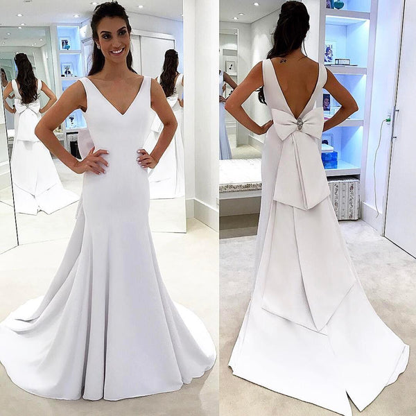 prom dress with bow