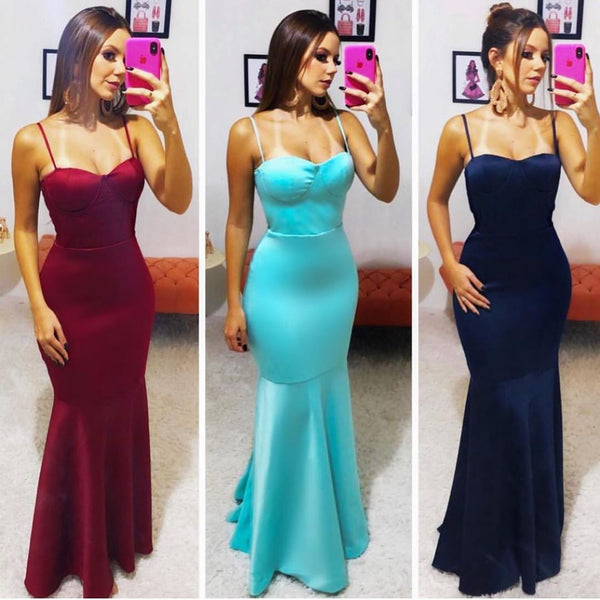 Elegant Sweetheart Prom Dress Mermaid Formal Gown For Women Evening Dress Mermaid Spathetti Straps