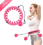 Smart Hula Hoops Weighted Hula Hoop not Fall Hula Hoop Waist With LCD Intelligent Counting
