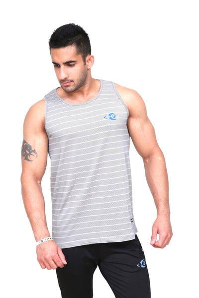 Fitwolf Atlas Tank - Striped Grey