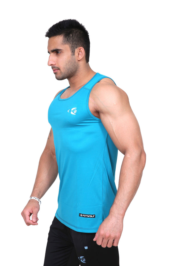 Fitwolf Atom Tank - Turquoise Blue