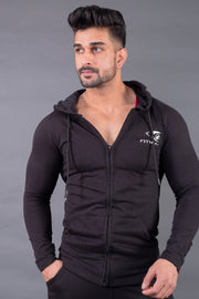 Fitwolf Crusader Long Sleeves Zip Hoodie - Black