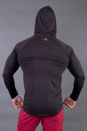 Fitwolf Ethan Long Sleeves Hoodie - Black