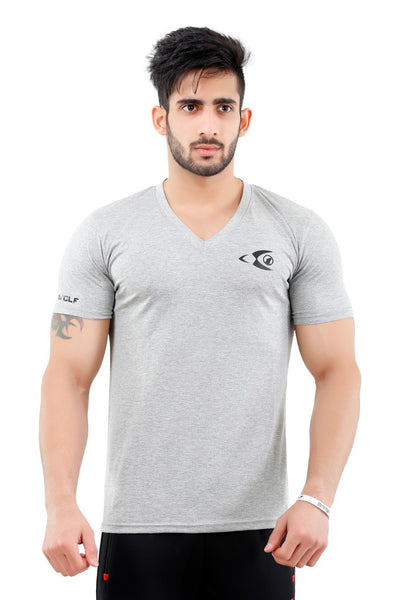 Fitwolf Classic V-neck T-shirt - Grey
