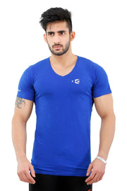 Fitwolf Classic V-neck T-shirt - Blue