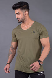 Fitwolf Eaze V-neck T-shirt- Cypress