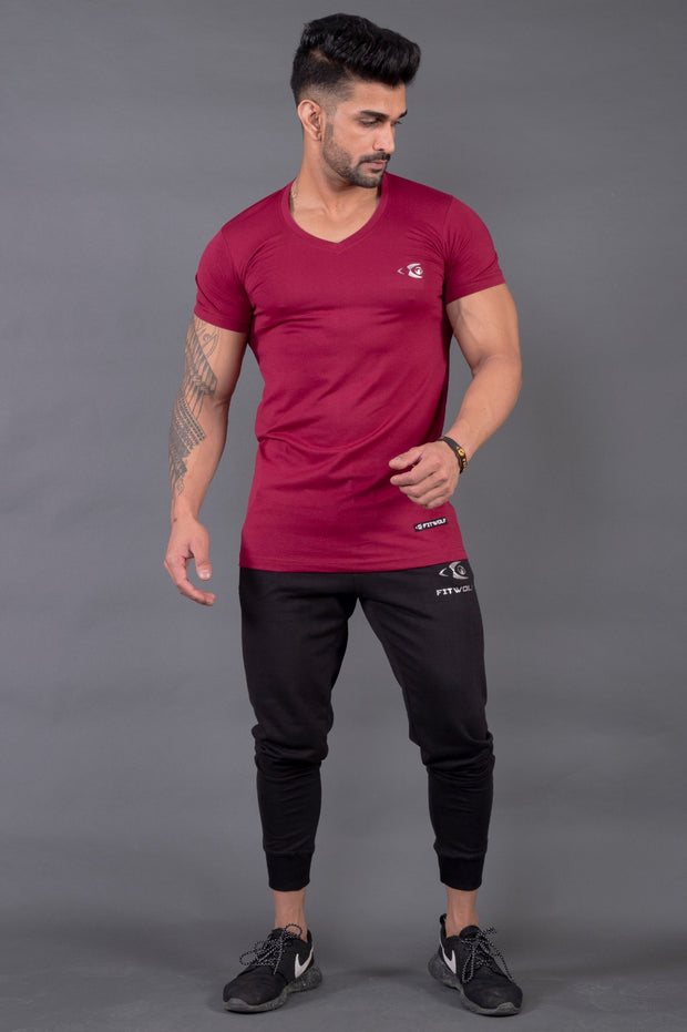 Fitwolf Classic V-neck T-shirt 2.0 - Plum