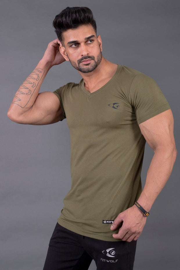 Fitwolf Classic V-neck T-shirt 2.0 - Cypress