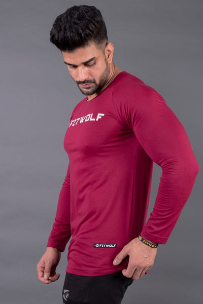 Fitwolf Ethan Long Sleeves T-shirt - Plum