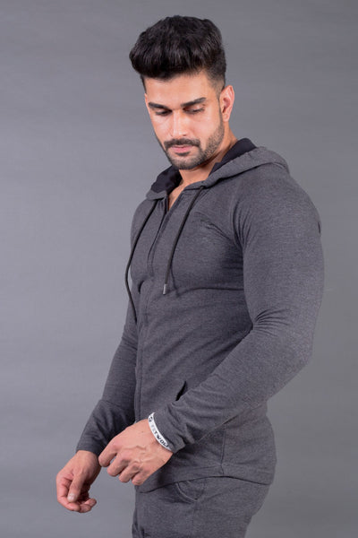 Fitwolf Crusader Long Sleeves Zip Hoodie - Grey