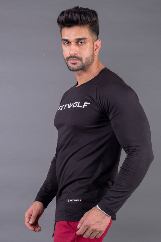 Fitwolf Ethan Long Sleeves T-shirt - Black
