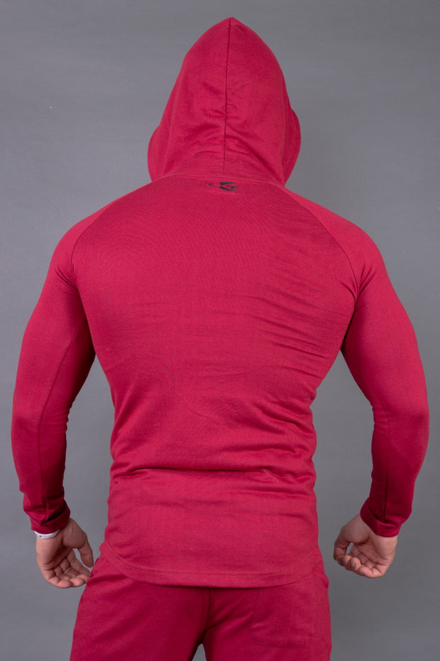 Fitwolf Crusader Long Sleeves Zip Hoodie - Port