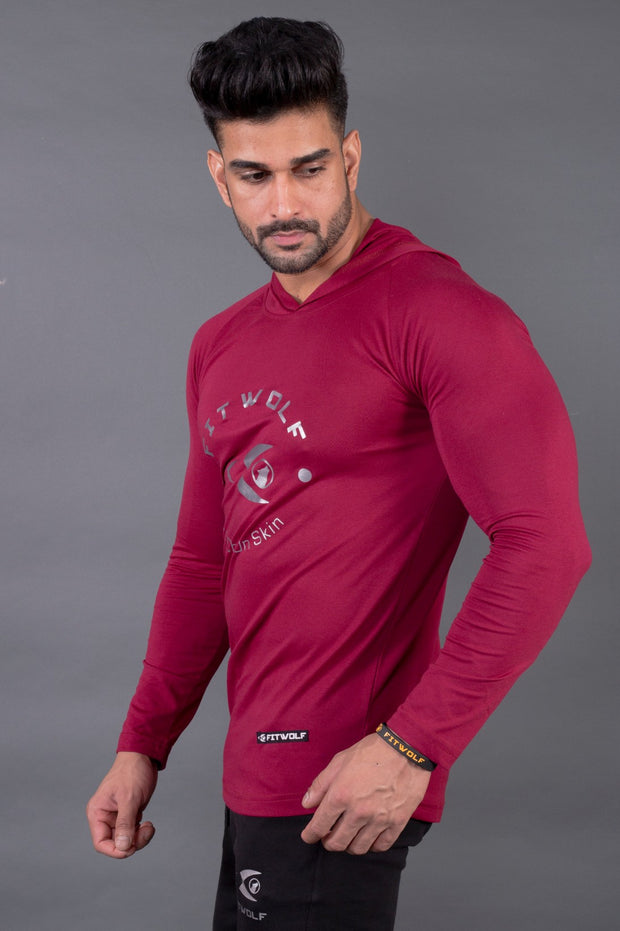 Fitwolf Ethan Long Sleeves Hoodie - Plum