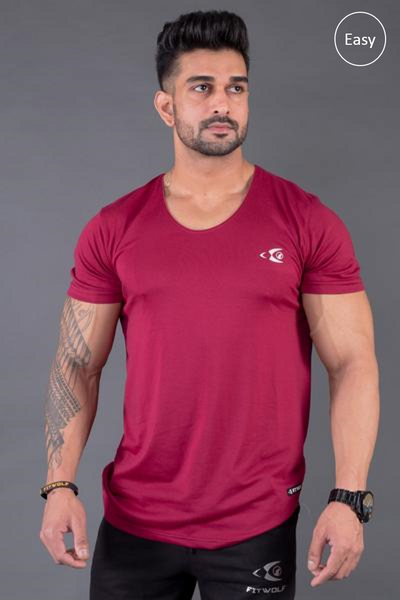 Fitwolf Eaze V-neck T-shirt-  Plum