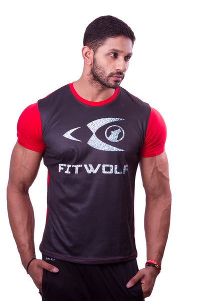 Fitwolf Two Panel T-Shirt - Red