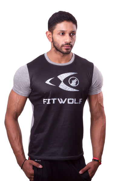 Fitwolf Two Panel T-Shirt - Grey