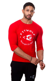 Fitwolf 3/4 Apex T-Shirt - Red