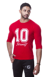 Fitwolf 3/4 Legend T-shirt - Red