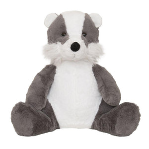 Badger hot water bottle toy front on view