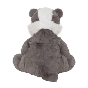 Badger hot water bottle toy back view