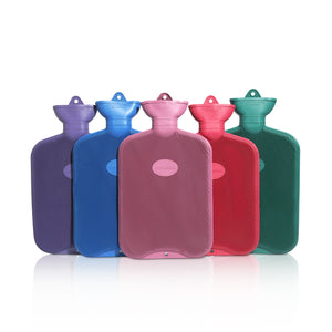Coronation 2 Litre Rib Two Sides Rubber Hot Water Bottle (20 Assorted Units)