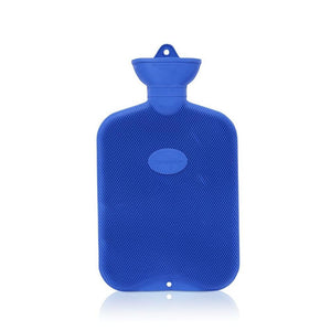 Blue Coronation 2 Litre rib 2 sides Rubber hot water bottle