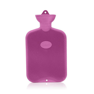 Lilac Crocus Coronation 2 Litre rib 2 sides Rubber hot water bottle