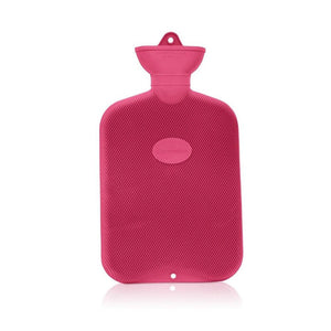 Red Coronation 2 Litre rib 1 sides Rubber hot water bottle