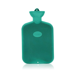 Green Coronation 2 Litre rib 2 sides Rubber hot water bottle
